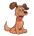 Cute smiling dog vector image