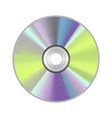 realistic detailed round cd disk vector image