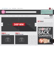 Website Template Flat Design vector image
