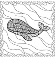 Whale style zentangl vector image