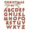 Ginger cookie alphabet vector image