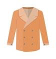 Warm Orange Men s Coat Flat Design vector image