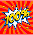 red sale web banner sale one hundred percent 100 vector image vector image