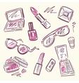 Cosmetics Makeup set vector image vector image