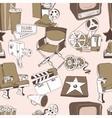 Doodle cinema seamless pattern vector image