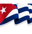 Background with waving Cuban Flag vector image vector image