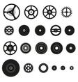 various cogwheels parts of watch movement eps10 vector image