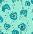 Seamless pattern of fancy flowers vector image