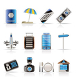 travel and trip icons vector image