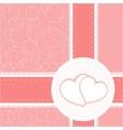 valentine heart wedding card background vector image vector image