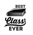 best class design vector image