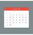 Calendar page for November 2015 vector image