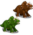 dinosaur avaceratops in cartoon style vector image