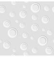 Grey paper circles seamless pattern design vector image