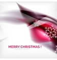 Pueple Christmas blurred waves and snowflakes vector image