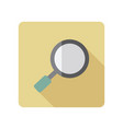 search magnifier icon vector image