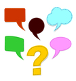 speech bubbles with question mark vector image