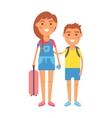 Travel kids vector image