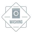 washing logo simple gray style vector image