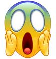 face screaming in fear emoticon vector image vector image
