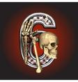 Metal figure with skeleton vector image vector image