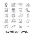 summer travel beach vacation yacht sunny trip vector image