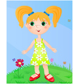 cute redhead girl vector image
