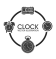 Clock design time icon flat vector image