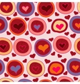 Bright Valentine seamless pattern with hearts vector image
