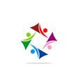 circle abstract people group diversity logo vector image