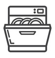 dishwasher line icon kitchen and appliance vector image