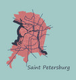 flat color map of the centre of st petersburg vector image