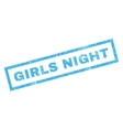 Girls Night Rubber Stamp vector image