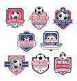 icons for soccer club football team league vector image