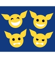 set icon yellow character flat style design vector image