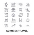 summer travel beach vacation yacht sunny trip vector image