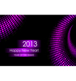 2013 purple snake card vector image