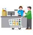 shopping food supermarket vector image vector image