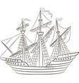 A sailing ship vector image