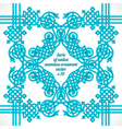 turquoise native ornament vector image