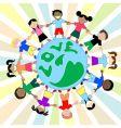 kids love globe vector image vector image