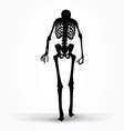skeleton silhouette in old walk pose vector image