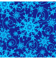 Winter blue seamless pattern with snowflakes vector image