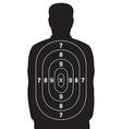 Human target vector image vector image
