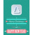 Concept Christmas background with flares vector image