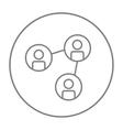 Social network line icon vector image