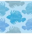 Venomous marine fish seamless pattern vector image
