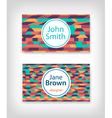 Business card design with ethnic pattern vector image