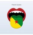 French Guiana language Abstract human tongue vector image