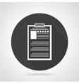 Resume black round icon vector image